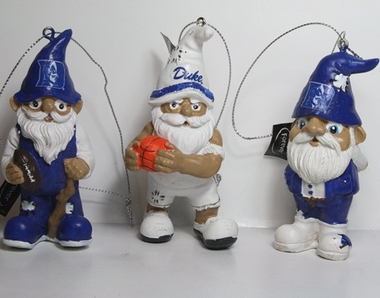 Duke Blue Devils 2012 Gnome 3 Pack Ornament Set