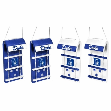 Duke Blue Devils NCAA Toboggan 4 Pack Ornament Set