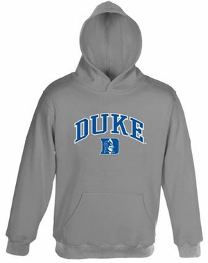 Duke Embroidered Hooded Sweatshirt (Grey)