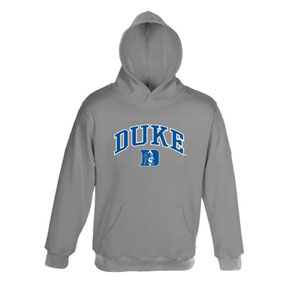 Duke Embroidered Hooded Sweatshirt (Grey) - Large