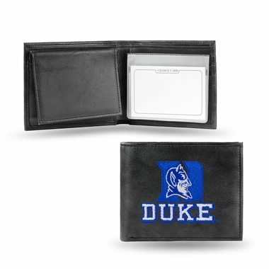 Duke Embroidered Leather Bi-Fold Wallet