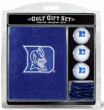 Duke Embroidered Towel Golf Gift Set
