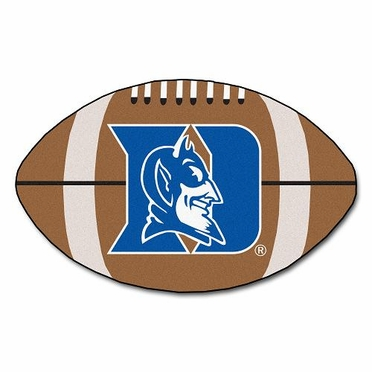 Duke Football Shaped Rug