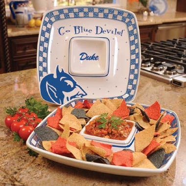 Duke Gameday Ceramic Chip and Dip Platter