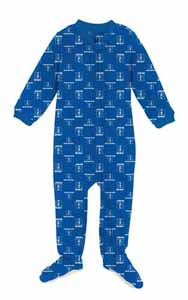 Duke Infant Footed Full Zip Raglan Coverall Sleeper - 12 Months