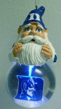 Duke Light Up Gnome Snow Globe Ornament