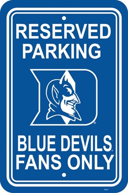 Duke Plastic Parking Sign (P)