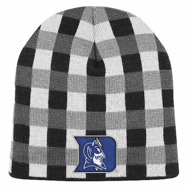 Duke Soul Plaid Cuffless Knit Beanie Hat
