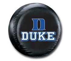Duke Blue Devils Black Tire Cover - Standard Size