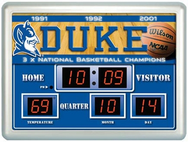 Duke Time / Date / Temp. Scoreboard