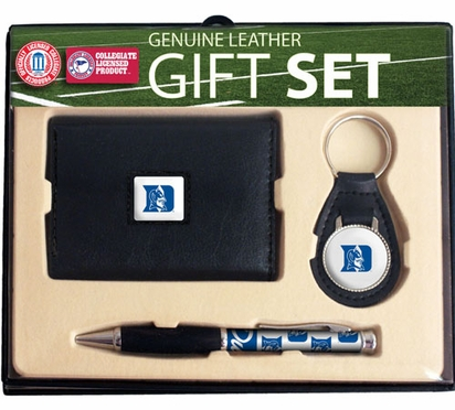Duke Trifold Wallet Key Fob and Pen Gift Set
