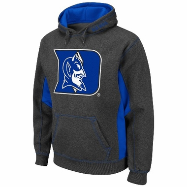 Duke Turf Red Pullover Hooded Sweatshirt (Charcoal)