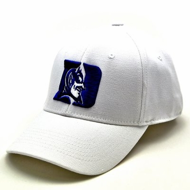 Duke White Premium FlexFit Hat