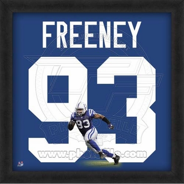 "Dwight Freeney, Colts UNIFRAME 20"" x 20"""