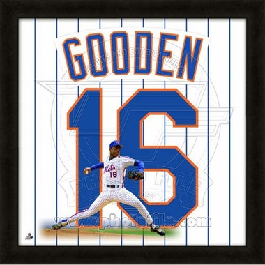 "Dwight Gooden, Mets UNIFRAME 20"" x 20"""