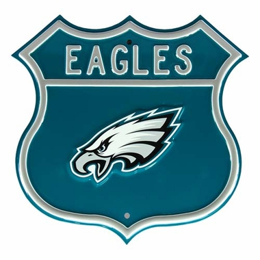Eagles W Eagles Logo Street Sign