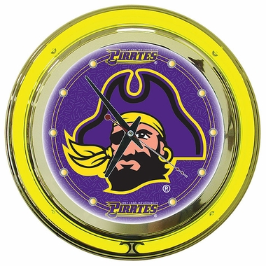 East Carolina 14 Inch Neon Clock