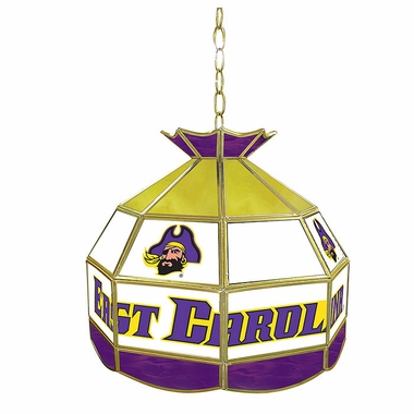 East Carolina 16 Inch Diameter Stained Glass Pub Light