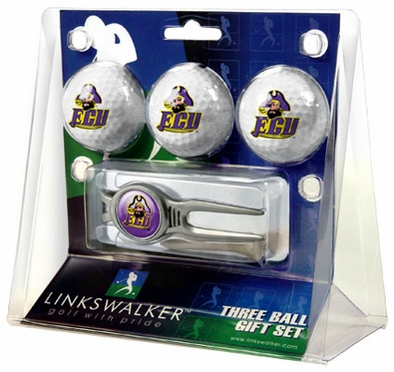 East Carolina 3 Ball Gift Pack With Kool Tool