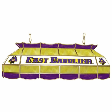 East Carolina 40 Inch Rectangular Stained Glass Billiard Light