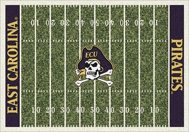 "East Carolina 7'8"" x 10'9"" Premium Field Rug"