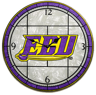 East Carolina Art Glass Clock