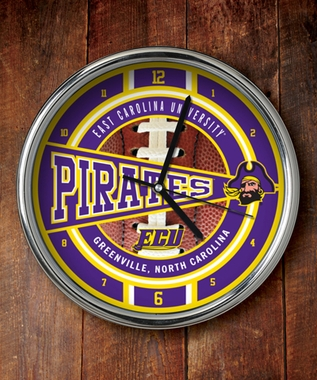 East Carolina Chrome Clock