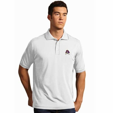 East Carolina Mens Elite Polo Shirt (Color: White)