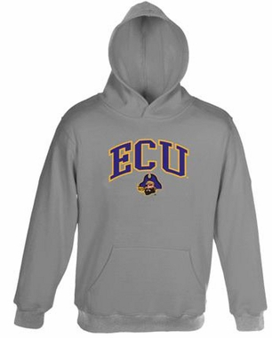 East Carolina Embroidered Hooded Sweatshirt (Grey)