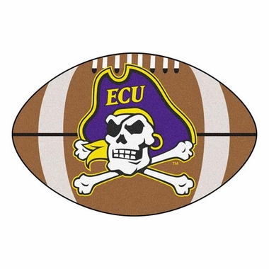 East Carolina Football Shaped Rug
