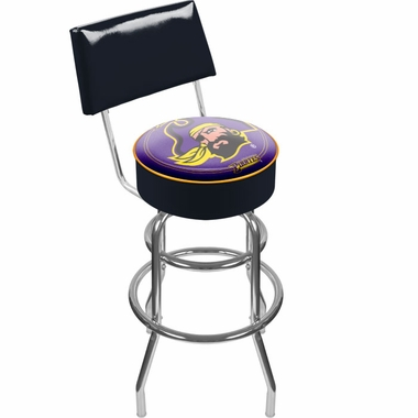 East Carolina Padded Bar Stool with Back