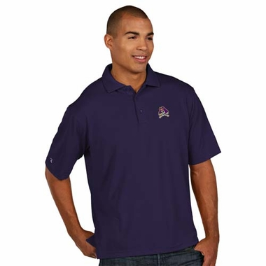 East Carolina Mens Pique Xtra Lite Polo Shirt (Color: Purple)