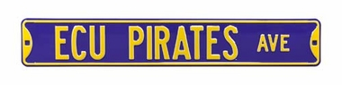 East Carolina Pirates Ave Street Sign