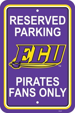 East Carolina Plastic Parking Sign (P)
