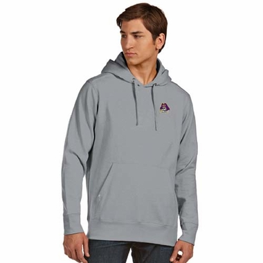 East Carolina Mens Signature Hooded Sweatshirt (Color: Gray)