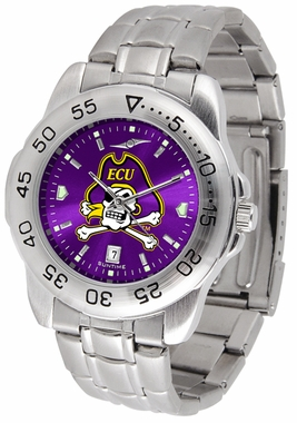 East Carolina Sport Anonized Men's Steel Band Watch