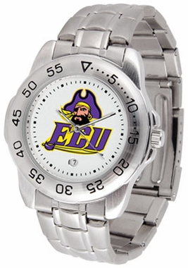 East Carolina Sport Men's Steel Band Watch