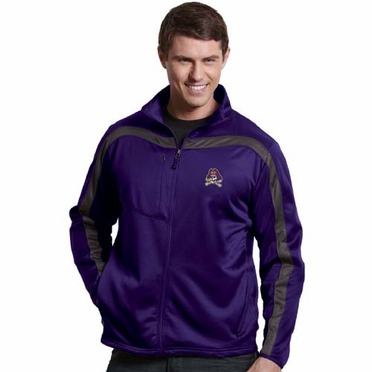 East Carolina Mens Viper Full Zip Performance Jacket (Team Color: Purple)