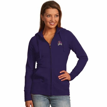 East Carolina Womens Zip Front Hoody Sweatshirt (Team Color: Purple)