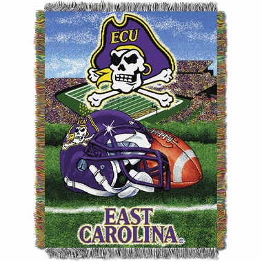 East Carolina Woven Tapestry Throw Blanket