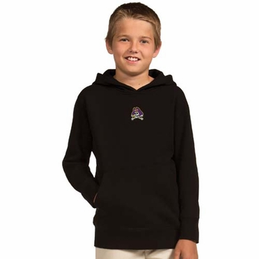 East Carolina YOUTH Boys Signature Hooded Sweatshirt (Team Color: Black)