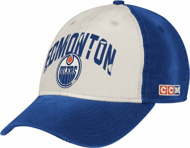 Edmonton Oilers CCM Throwback Adjustable Slouch Hat