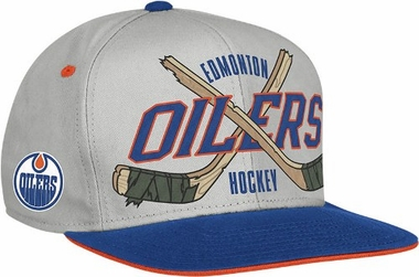 Edmonton Oilers Cross Sticks Snap back Hat