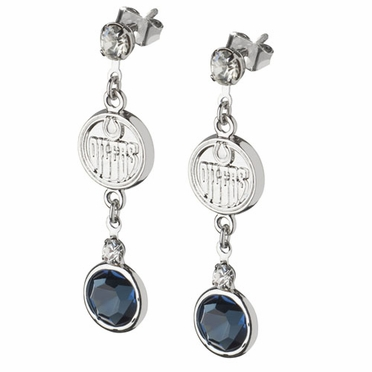 Edmonton Oilers Crystal Logo Dangle Earrings