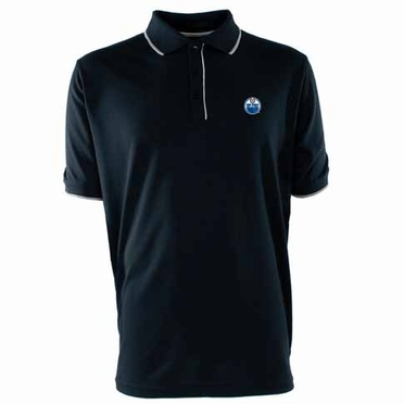 Edmonton Oilers Mens Elite Polo Shirt (Team Color: Navy)