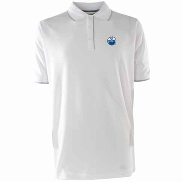 Edmonton Oilers Mens Elite Polo Shirt (Color: White)