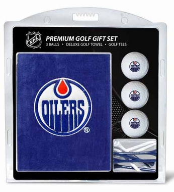 Edmonton Oilers Embroidered Towel Gift Set