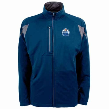 Edmonton Oilers Mens Highland Water Resistant Jacket (Team Color: Navy)