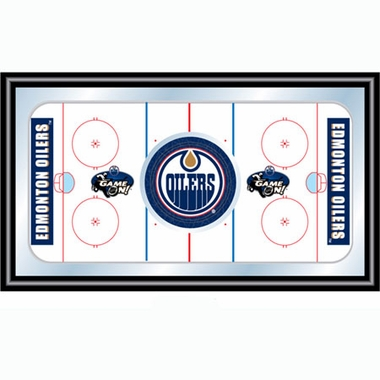 Edmonton Oilers Hockey Bar Mirror