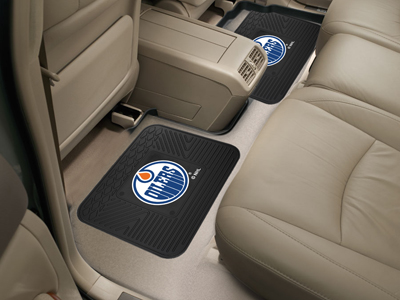 Edmonton Oilers SET OF 2 Heavy Duty Vinyl Rear Car Mats